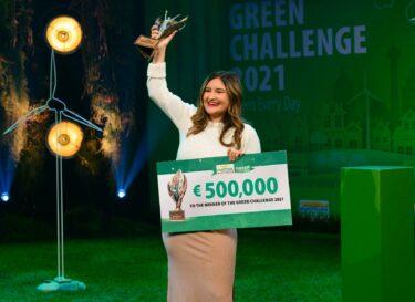 Isabella Palmgren uit Zweden wint 500 000 euro in finale Postcode Lotteries Green Challenge 2021