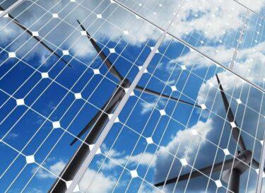 Adobestock duurzame energie zonnepaneel windmolen