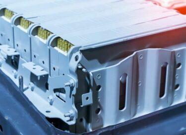 Batterij lithium auto elektrisch adobe stock