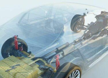 Batterij silicium elektrische auto