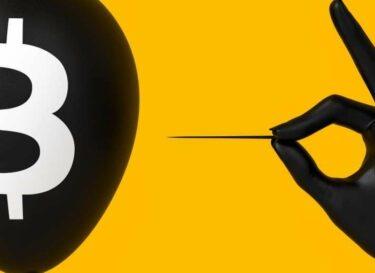 Bitcoin ballon zwarte hand change inc adobe stock