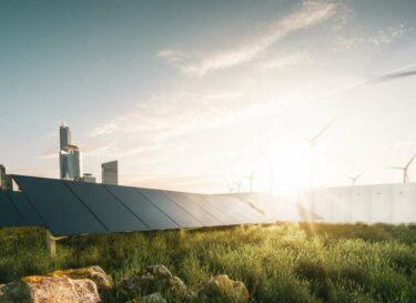 Duurzame stroom windmolens zonnepanelen zon adobe stock