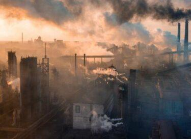 Fabriek industrie vervuiling rook schoorsteen adobe stock change inc
