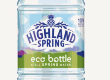 Highland spring trials 100 rpet bottle in the uk wrbm large