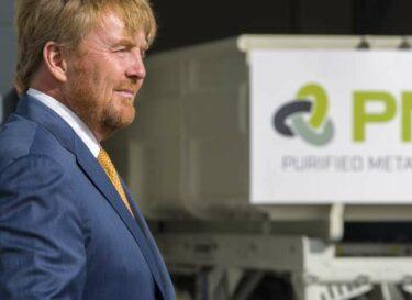 Koning willem alexander bij opening purified metal company 18