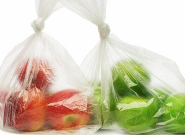 Plastic tas groente fruit