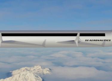 Se aeronautics vliegtuig zes vleugels duurzaam