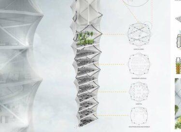 Skyshelter zip foldable skyscraper for disaster zones 3