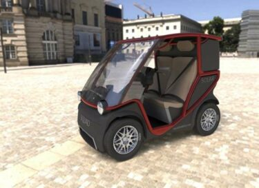 Squad solar city car cargo red 66 side