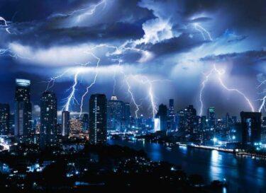 Stad bliksem klimaat adobe stock
