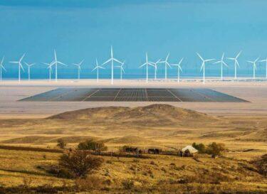Steppen kazachstan visualisatie zon wind svevind