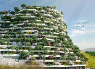 Verticaal bos duurzame bouw