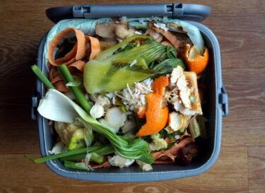 Voedsel afval vuilnisbak change inc adobe stock