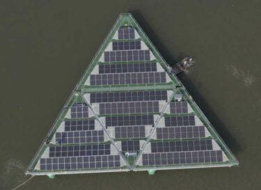 Watch solarduck debuts its floating solar panel platform