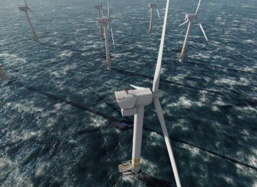 Windmolens bij deens energieeieland