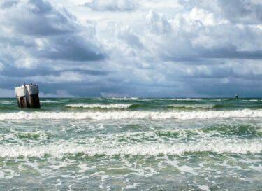 Zee getijdenstroom golfenergie