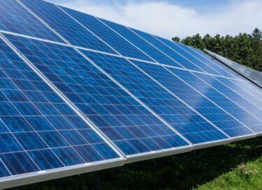 Zonnepark zonne energie zonnepanelen